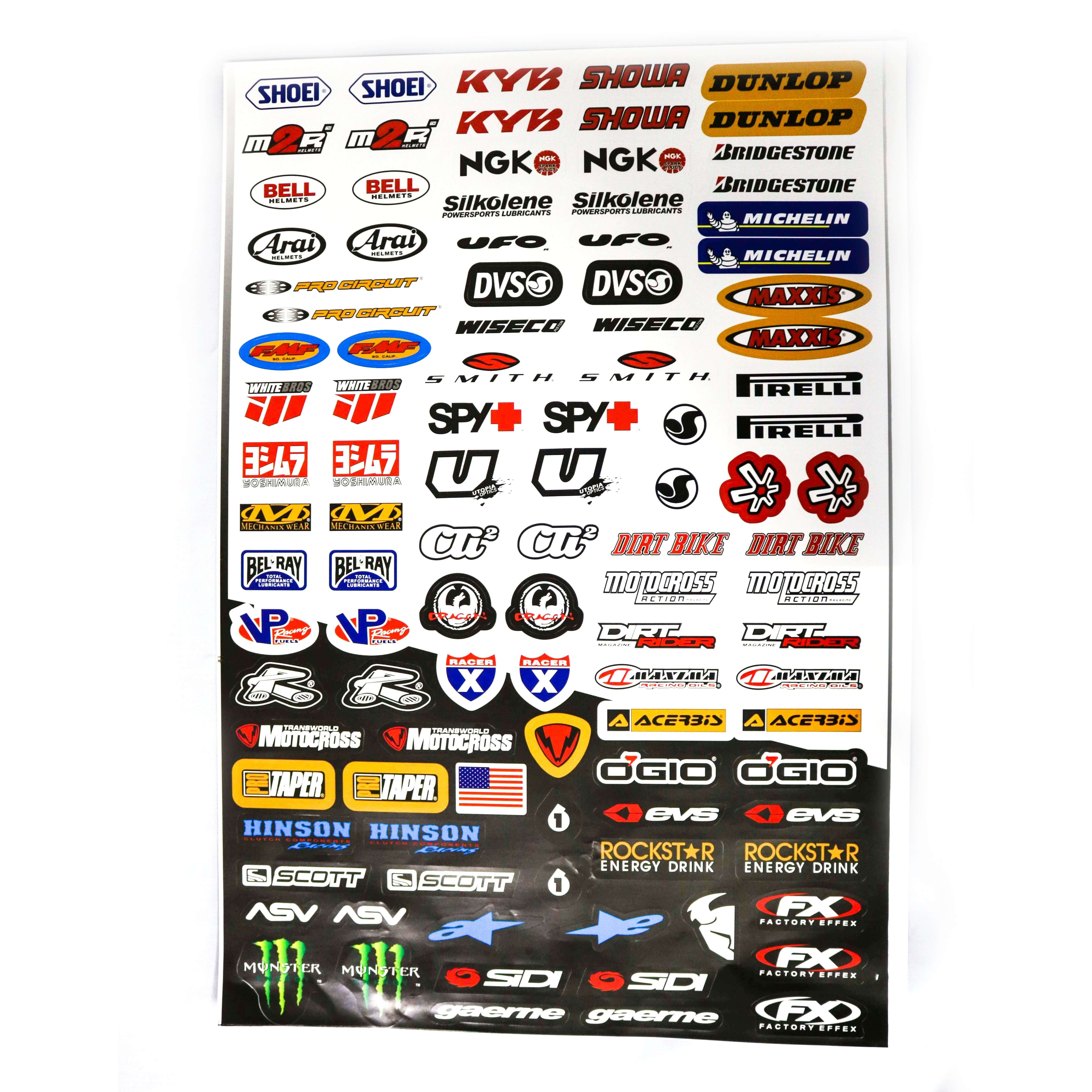 Decals (stickers) - Mixed ( With different brand names -1)