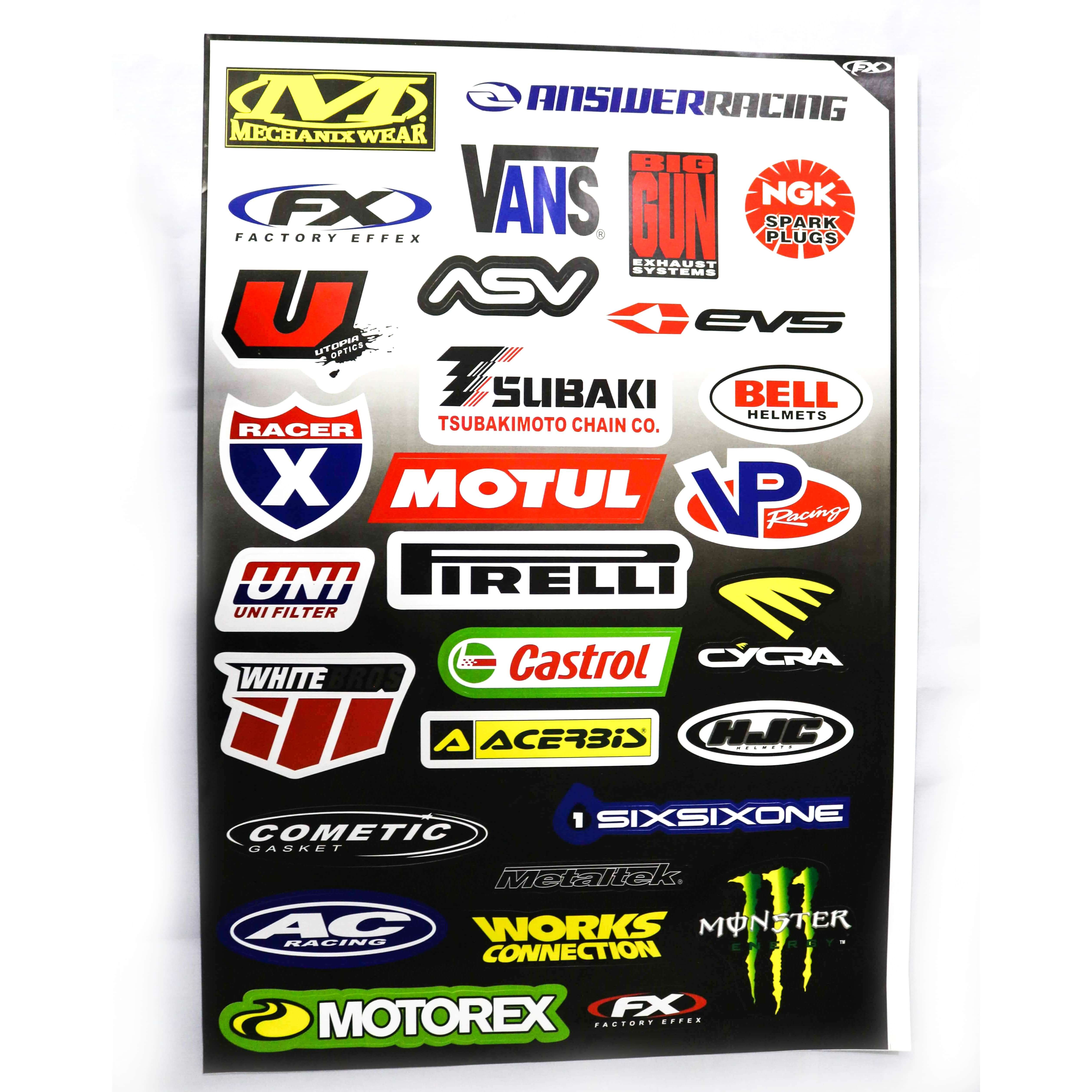 Decals (stickers) - Mixed ( With Different Brand Names -2)