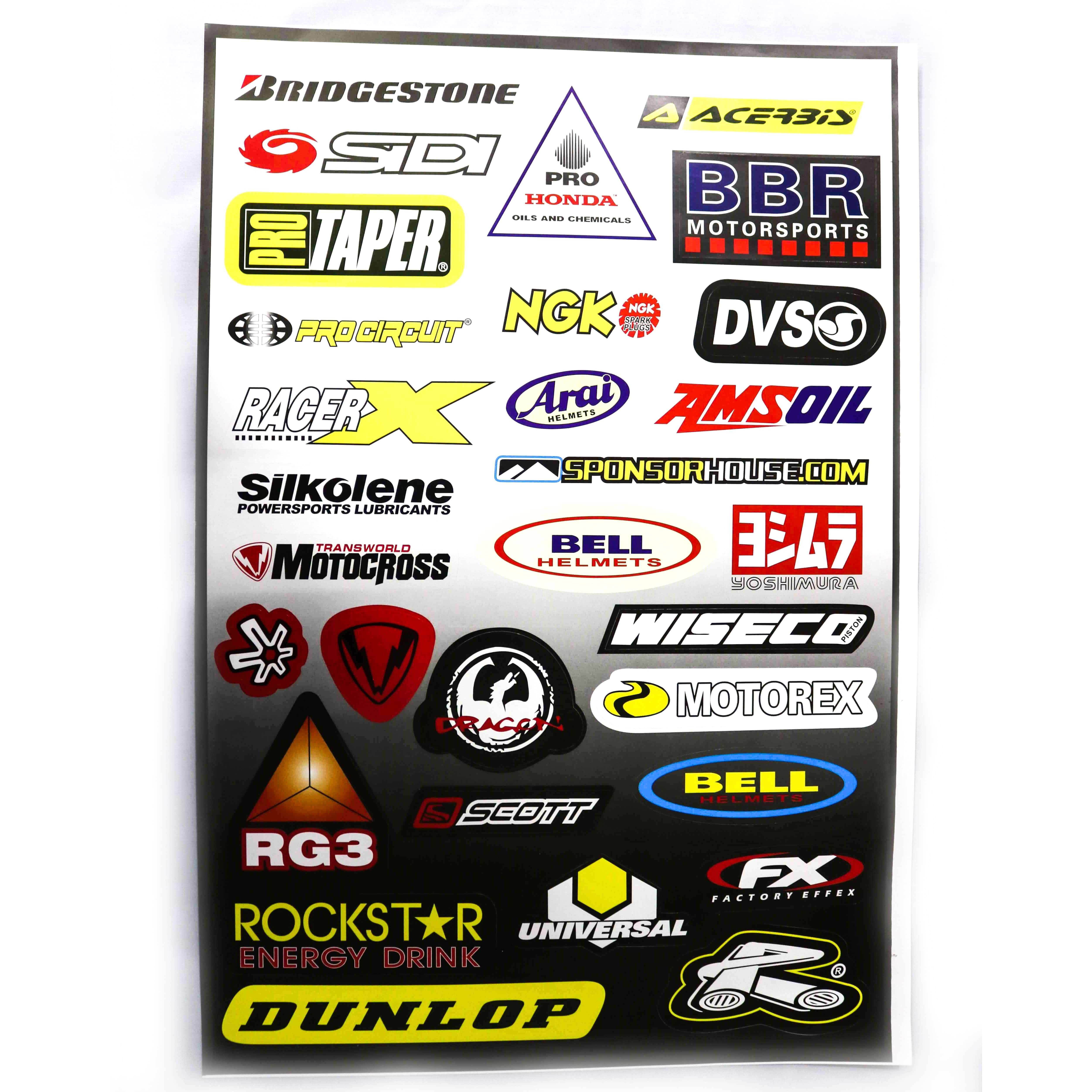 Decals (stickers) - Mixed ( With Different Brand Names -4)