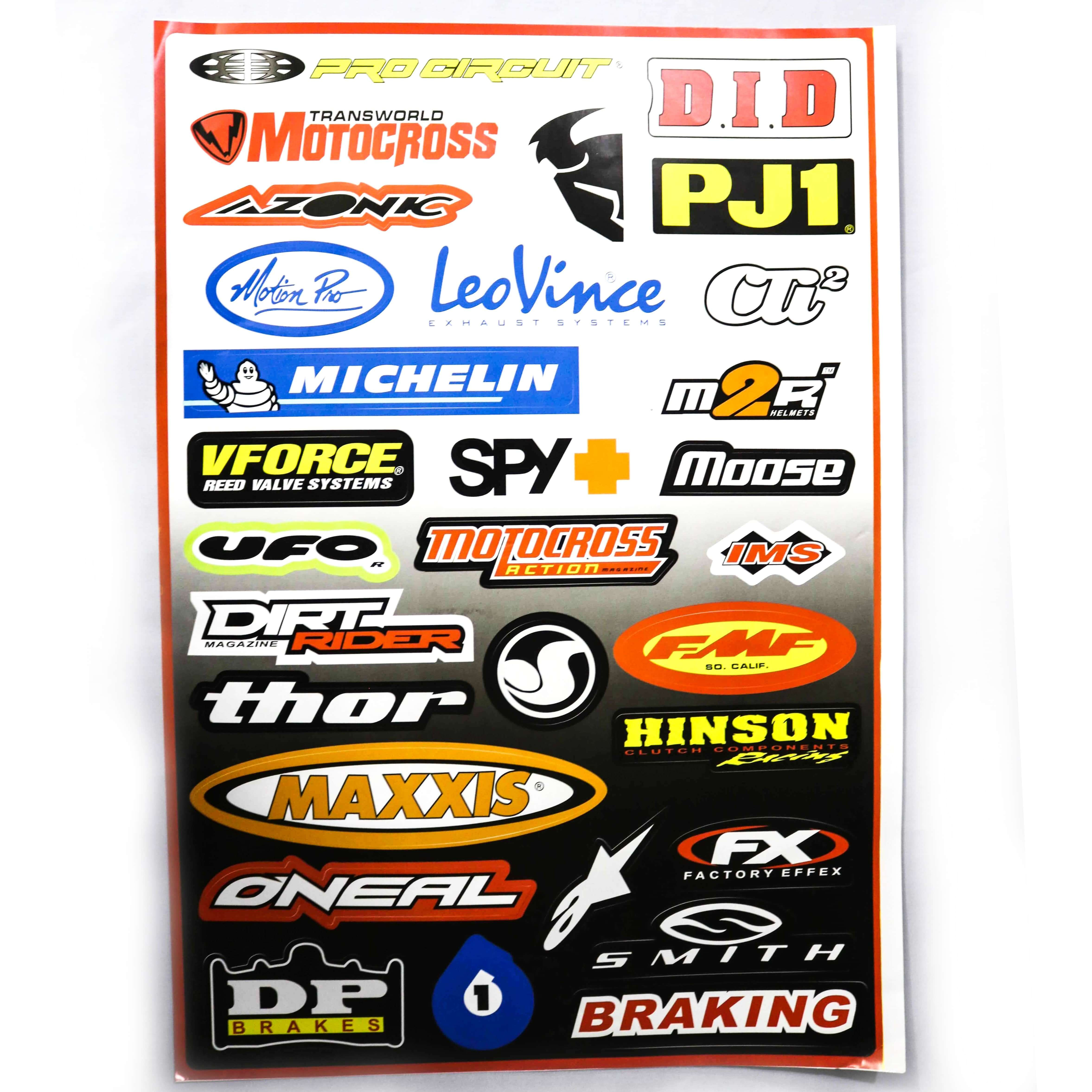 Decals (stickers) - Mixed ( With Different Brand Names -6)