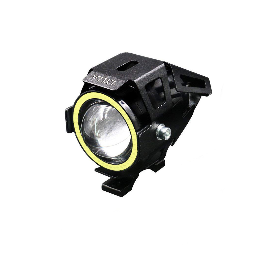 Motorcycle Fog light head light Double color compatible with 12 to 24-volt