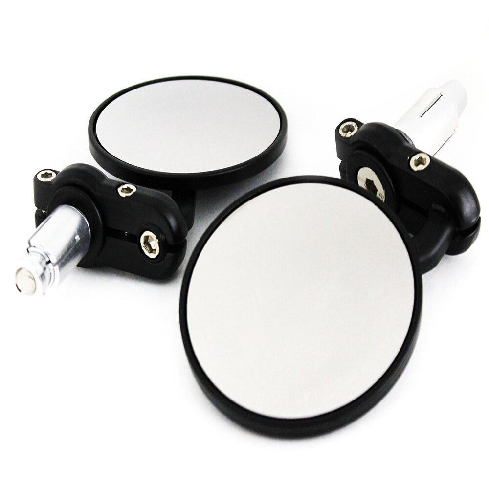 Handle Round Mirror bar end mirrors Circular rare view Mirror