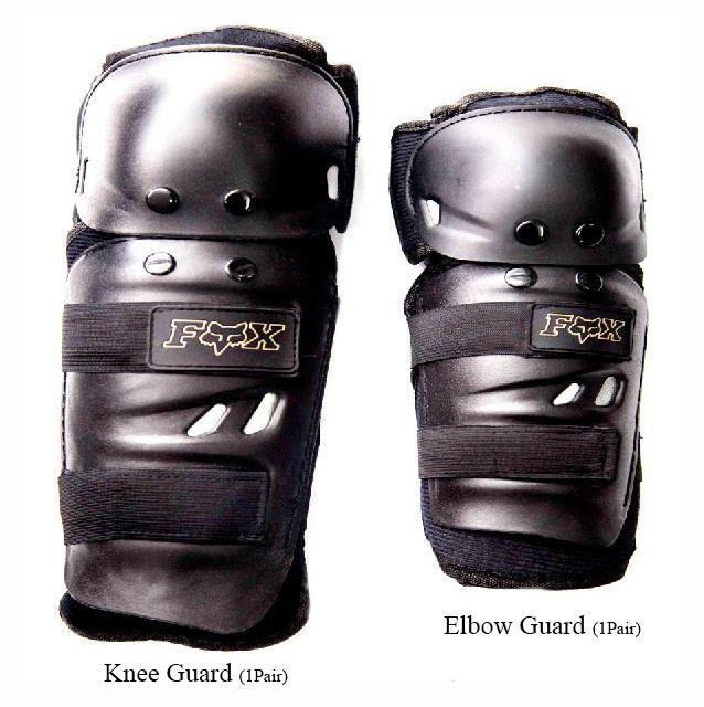 FOX Knee Guard 2 Pair Elbow Knee Shin Armor Crash Guard Pads
