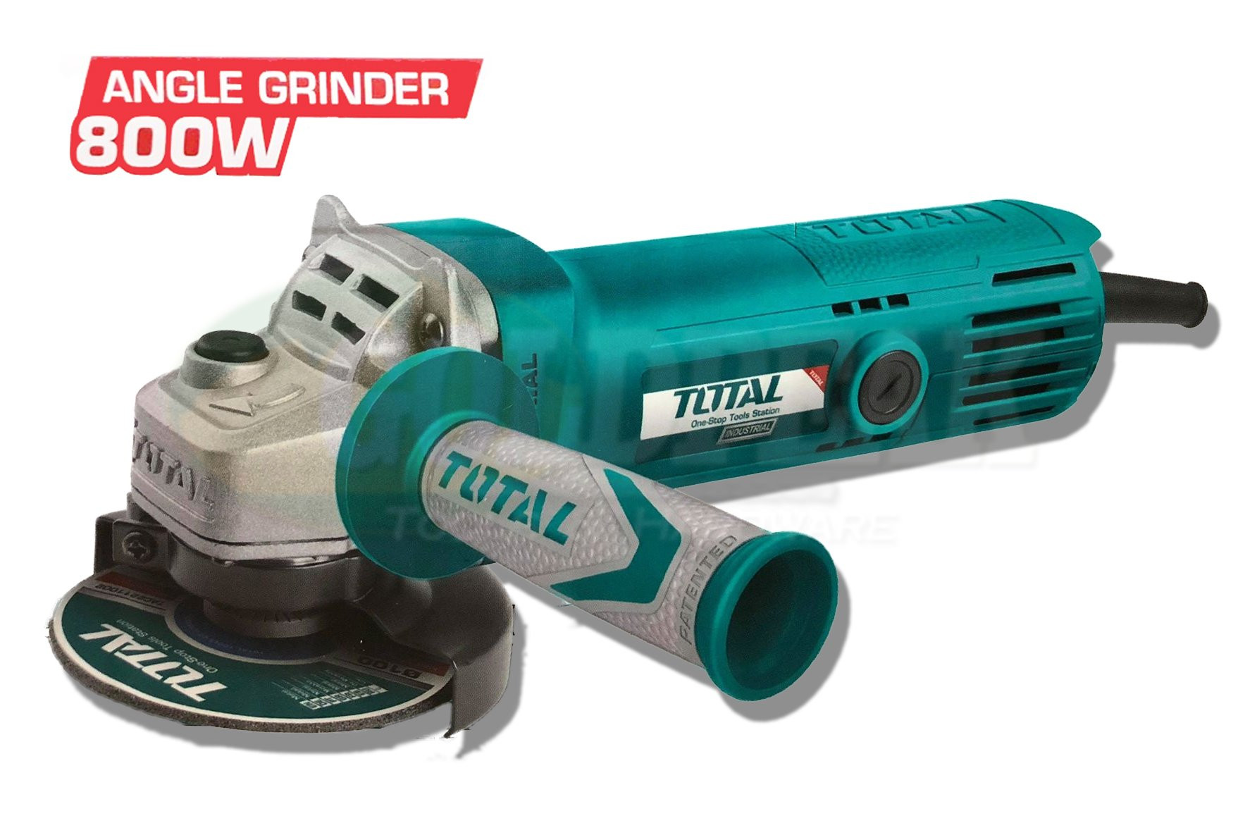 Total 800W Angle grinder with Soft Hand Grip TG1081006