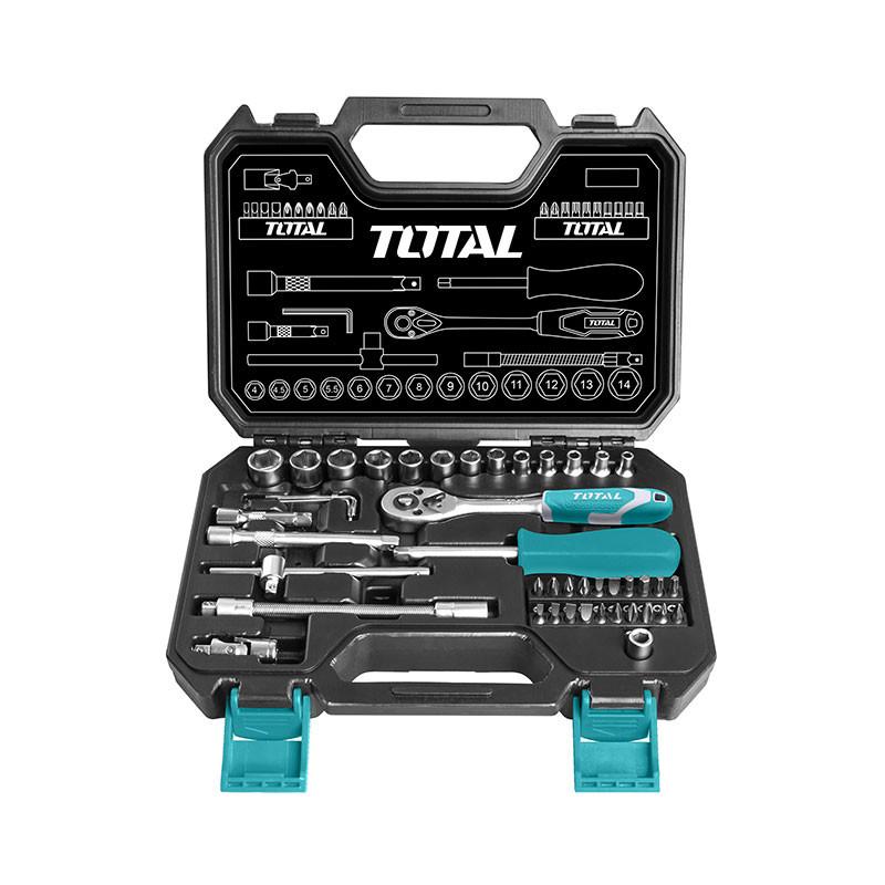 Total Socket set 45 pcs (THT141451) handy pack