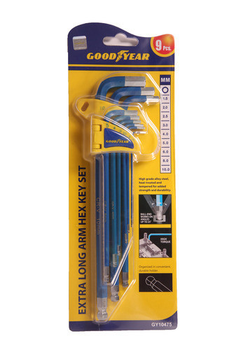 GoodYear Extra Long Arm Hex Key Set (GY10475)