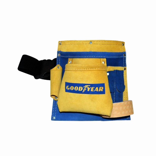 GoodYear GY10491 5 Pocket Leather Tool Bag