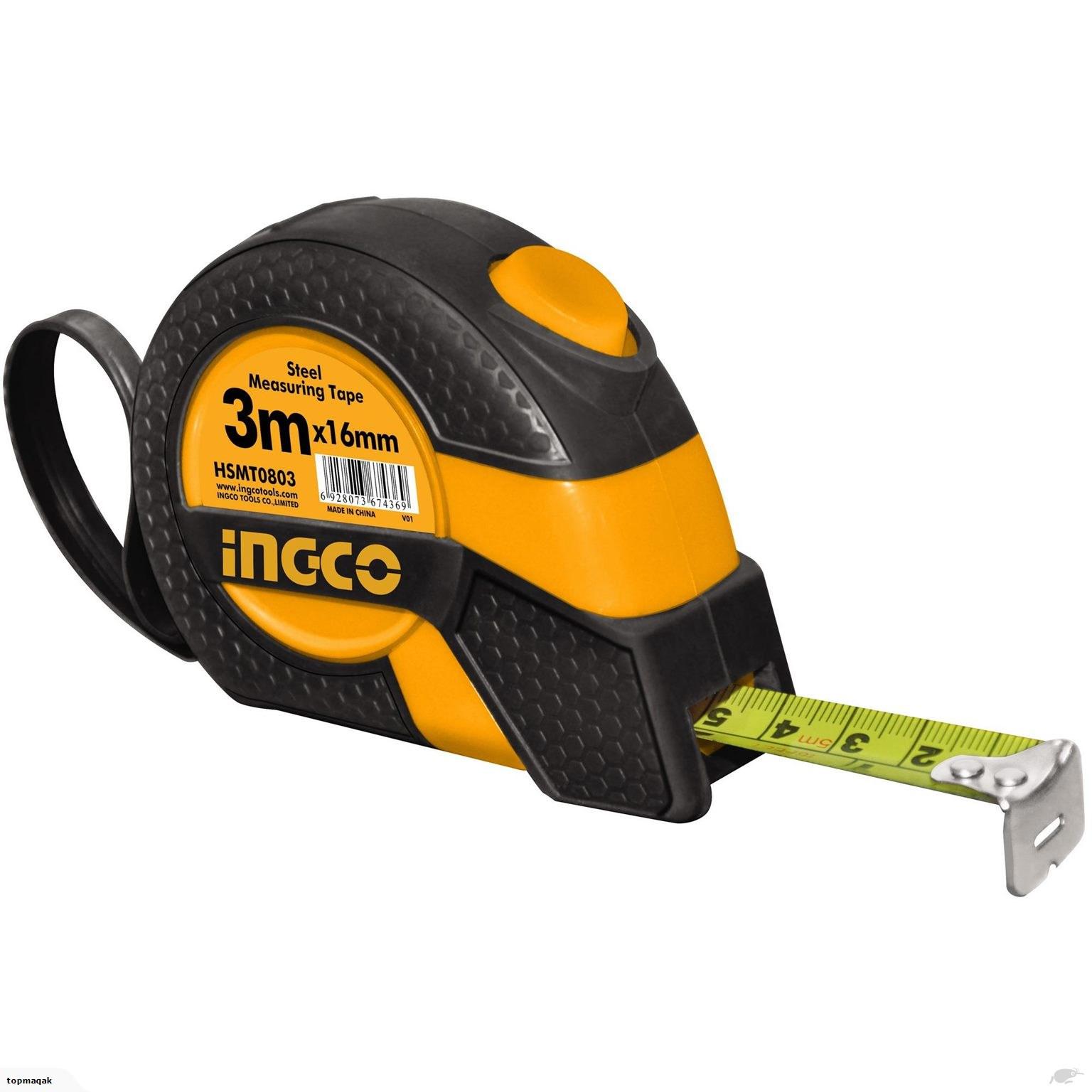 Ingco 3mx16mm Steel measuring tape HSMT0803