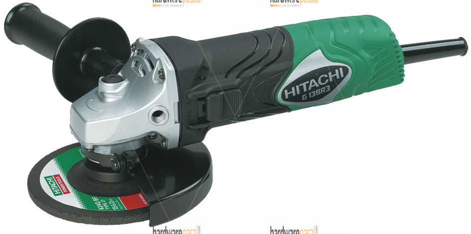 Hitachi G13SR4 Electric Angle Grinder with Grinding Abrasive Wheels