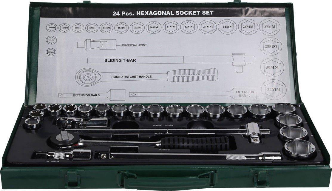 """Eastman ½"""" Drive Socket Set (Hex Socket Set) E- 2202"""