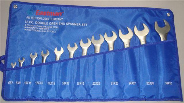 Eastman 12 Pcs. DOE Jaw Spanner (Open Spanner) Set- Elliptical Kit Packing E- 2002