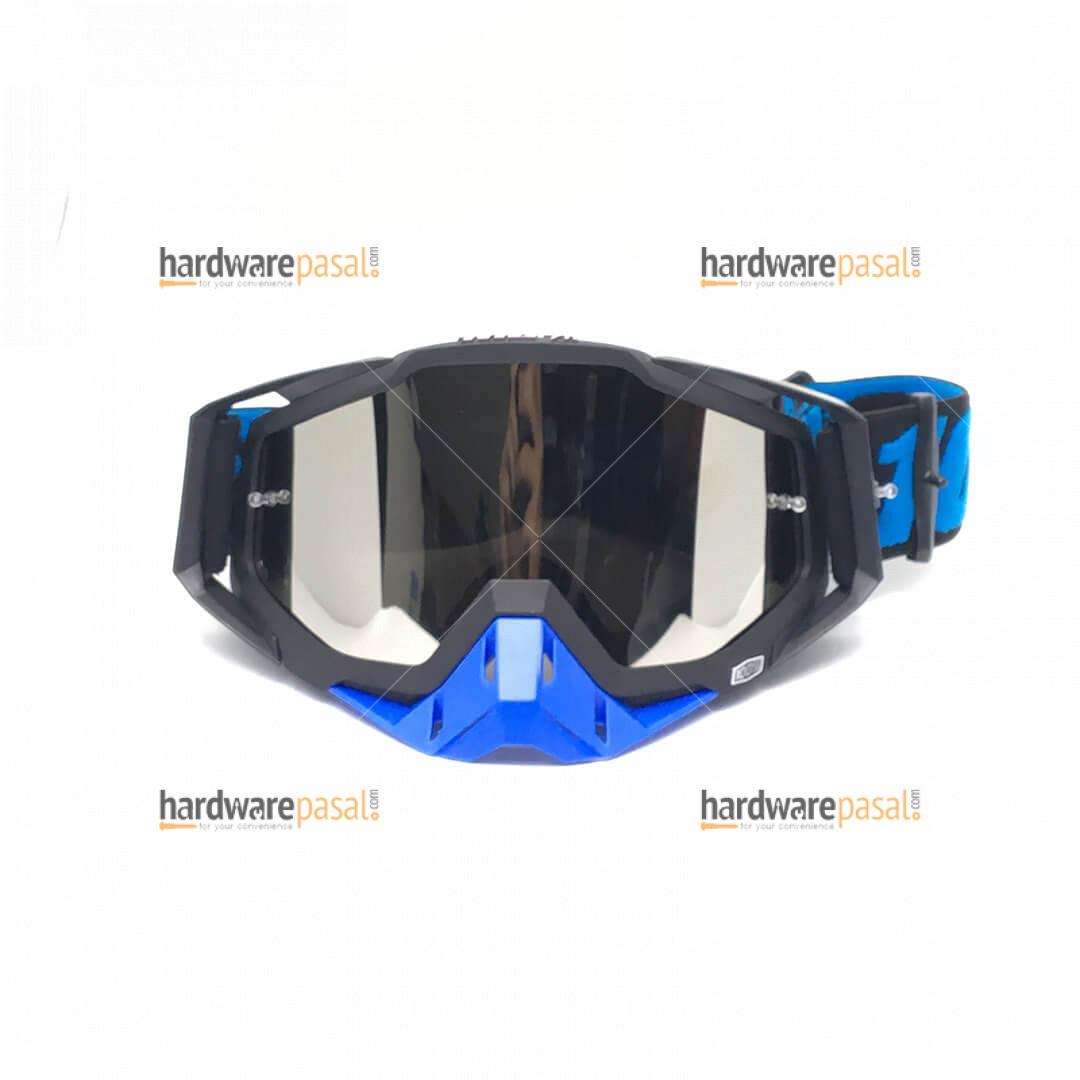 100% MX Goggles Blue Black Mix
