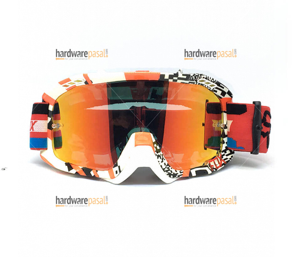 Fox Red and white mix Air Defense Goggles