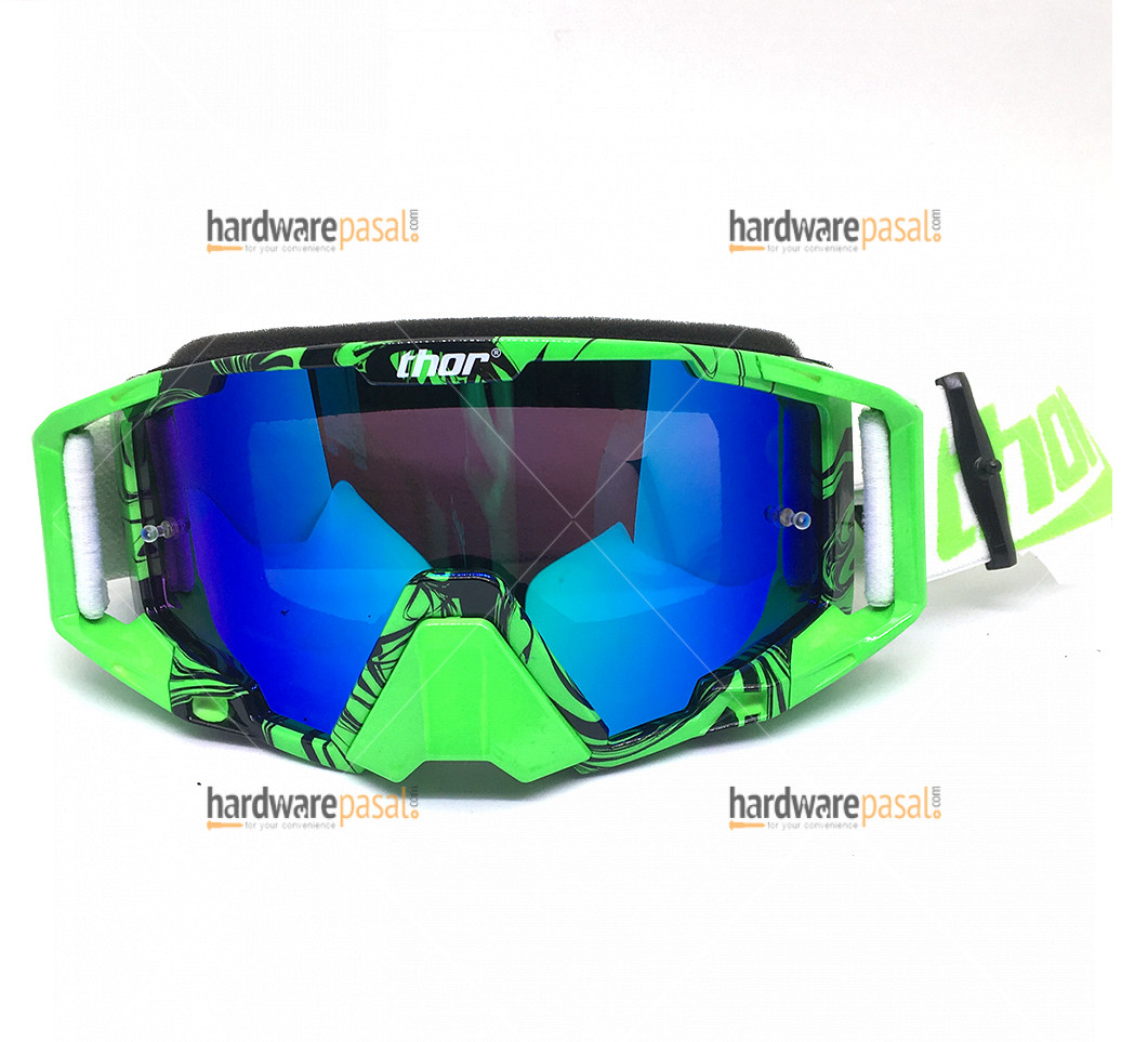 Thor Riding Goggles- Green