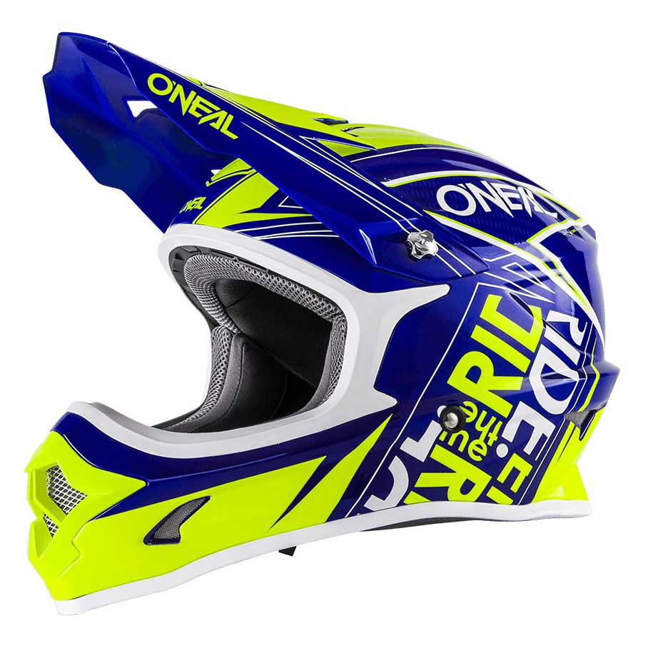 Dot helmet Neon and blue Oneal
