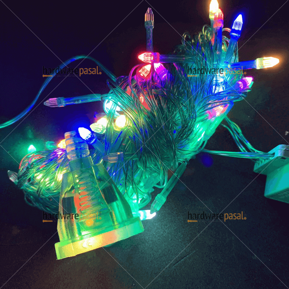 100 Led Green Body - multi colour